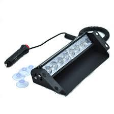 Durable 8W 8 LED Red&Blue Warning Light Car Emergency Vehicle Strobe ...