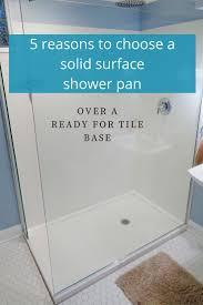 Tile Adhesive Mat Vs Thinset by Best 25 Tile Shower Pan Ideas On Pinterest Diy Shower Pan Diy