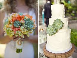 Succulents Mexican Hacienda Wedding