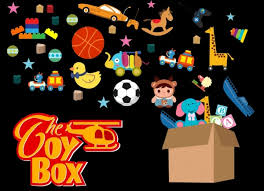 toy box advertising various colorful symbols decoration free