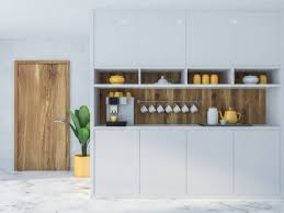 Modern White Kitchen Interior 3d Rendering Stockfoto Und Cozy Kitchen Interior With White And Wooden Countertops And