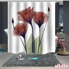 hohe qualität 3d druck tulip wasserdichte badezimmer dusche vorhang polyester cloth12 haken bad vorhang dusche vorhänge wish
