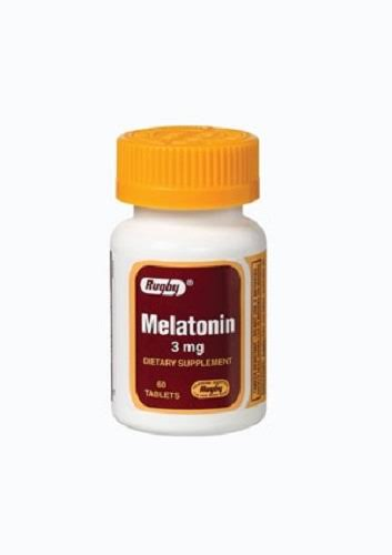 Rugby Melatonin Dietary Supplement - 3mg, 60ct