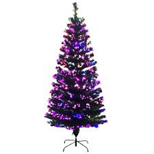 PARTY SOLUTIONS CHRISTMAS TREE 4 FT FIBER OPTIC 130 PRE LIT TIPS GREEN