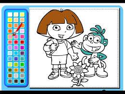 Dora The Explorer Painting Games