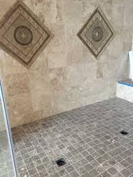 custom shower pan shower base installation fiberglass