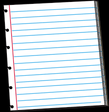 Lined paper notebook paper clipart 2