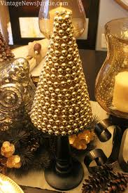 Driftwood Christmas Trees Uk by Upcycled Sparkly Christmas Tree Gold Beads U0026 A Cemetery Vase