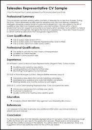 Telesales Representative Cv Sample Telemarketing Resume