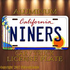 Amazon.com: San Francisco 49ers NINERS Aluminum Vanity Car Truck ...