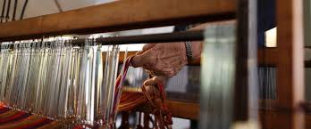In This March 2 2018 Photo Christine Sheppard Works With Her Loom