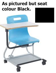 Titan Teach T300 Chair With Wrinting Tablet Age13-Adult Years Black MIN  ORDER 6