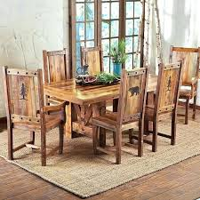Distressed Wood Dining Chairs Room Rectangular Square Reclaimed Table Farmhouse