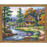 Plaid174 Mountain Creek Cabin Paint By Number Kit
