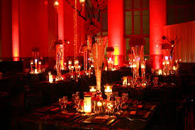 Red And Black Wedding Decoration Ideas Theme Full Of Love Passion