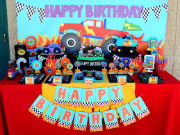 100 Monster Truck Birthday Party Supplies MONSTER THANK YOU TAGS