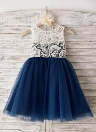 Dark Navy Find Affordable Flower Girl Dresses
