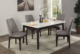Janel Real Marble 5 Piece Dining Table Set On Room Tables Las Vegas
