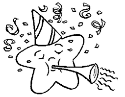 Pictures Star New Year Eve Coloring Pages