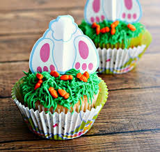 Upside Down Bunny Cupcakes