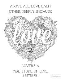 Love Each Other Deeply Coloring Page