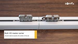 Motorized Curtain Track India by Somfy Curtain Wirefree Motor Installation Video Youtube