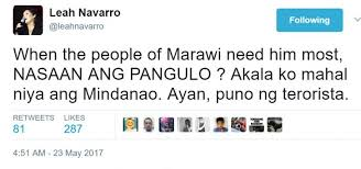 look siege social social media responds to navarro s tweet looking for duterte