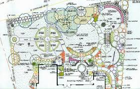 Formal Garden Space with Walks and Arbor Garden Landscape Plan