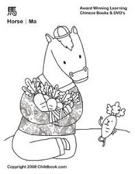 Chinese Zodiac Animals Coloring Pages Animal Horse Ram
