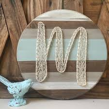 Rustic Farmhouse String Art Hand Painted Home Decor By Mckennahgraceandco