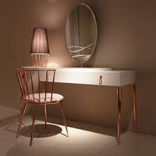 Great Vanity Table Lamp Modern Vanity Table With Mirror Copper