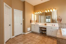 double bathroom vanity with makeup area how to light a bathroom