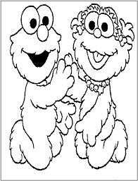 Abby Cadabby And Elmo Coloring Page In Pages
