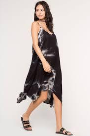 memdalet women u0027s black u0026 white tie dye casual tent dress