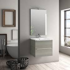 zusammensetzung mobiles badezimmer ausgesetzt 60 cm zwei schubladen mit waschbecken spiegel und malmö led le grau tft