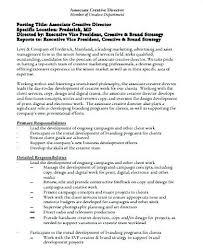 Executive Director Resume From Design Job Art Samples Creative