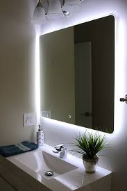 home design backlit bathroom mirrors home design wall