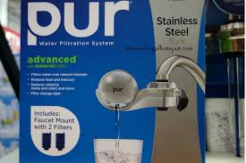 Pur Faucet Mounted Water Filter by Costco Sale Pur Water Filtration System Faucet Mount Stainless