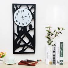 Big Size Wooden Wall Clock Living Room Black And White Children Large Home Decor