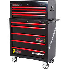 ToolPro Tool Cabinet, 4 Drawer, Top Chest - Black, 35 Inch ...