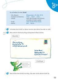Bestandteile Persönlicher Brief Deutsch