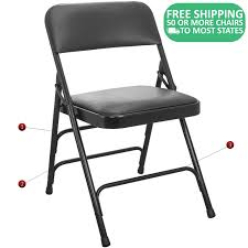 100 Oversized Padded Folding Chairs Black Vinyl Chair DPI903VBLK