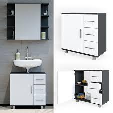 vicco waschtischunterschrank ilias badschrank badezimmerschrank waschbeckenunterschrank unterstellschrank weiß anthrazit