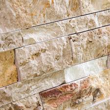 Valencia Scabos Travertine Tile by Valencia Travertine 6 X 20 Stacked Ledger Wall Panel Tile Split