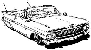 Corvette Cars Chevy Classic Coloring Pages