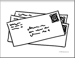 Clip Art Basic Words Mail coloring page I abcteach
