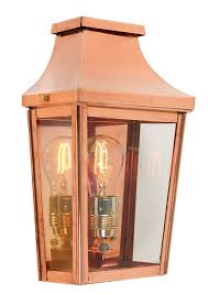 norlys chelsea handmade copper outdoor wall lantern 25yr guarantee