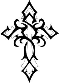 Tribal Cross Tattoo Design By El Capitan