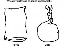 When My Girlfriend Engages A Pillow Fight