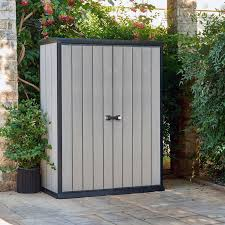 Step2 Lifescapestm Highboy Storage Shed by Keter High Store 4 Ft 6 In W X 2 Ft 5 In D Plastic Vertical